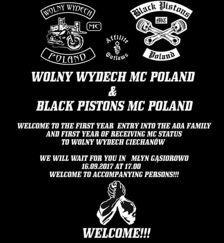 Wolny Wydech MC Poland & Black Pistons MC Poland
